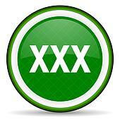 xxx green icon porn sign