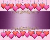 Valentines Day Border Background