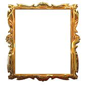 Picture gold frame with a decorative pattern