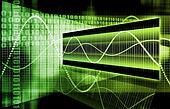 Green Futuristic Business Chart