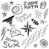 School Notebook Doodles