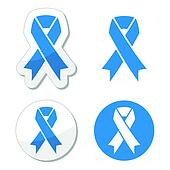 Blue ribbon - drunk driving symbol