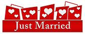 Just Married Hearts On Top