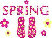 Spring Flip Flops Pink