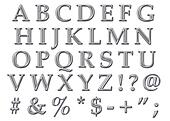 Chrome Alphabet Uppercase