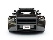 Police modern car.