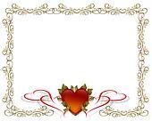 Valentines Day Gold Border