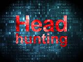 Finance concept: Head Hunting on digital background