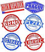 Czech Republic cities stamps set