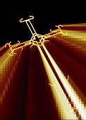 Cross with red  rays 1