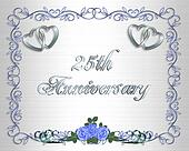 25th Wedding Anniversary Border