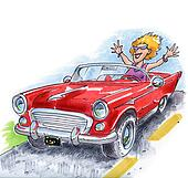 sporty classic car