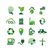 Green environment ECO icon