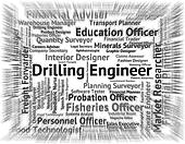 Drilling Engineer Means Oil Well And Boring