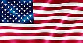 USA flag rippling.
