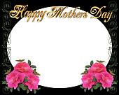 Mothers Day border on black