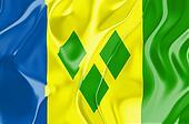 Flag of Saint Vincent and Grenadines