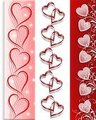 Valentine 3 Borders Hearts
