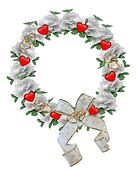 Valentine Border Wreath design
