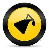 chemistry black yellow web icon