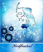 Map of Nordfriesland