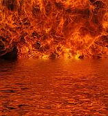 Lake on Fire