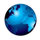 gel globe blue