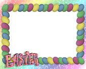 Easter Egg Frame or border 3D