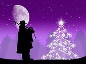 piper with cornamuse at Christmas