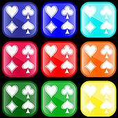 Icon of card's suits on buttons