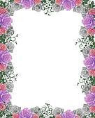 Roses Wedding invitation Border fra