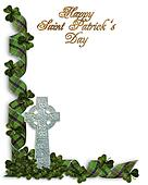 St Patricks Day Celtic Cross Border