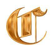 Golden pattern gothic letter C