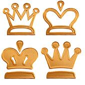 Four abstract golden pattern crown
