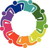 Teamwork Hug 9 Group of People logo