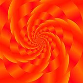 Red Spiral Background. Fractal Pattern
