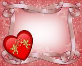 Valentines Day Heart Border