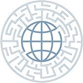 Globe in Radial Maze Puzzle Earth