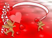 Valentines Day Border Hearts abstra