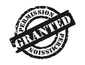 Stamp 'Permission Grante