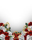 Valentine or Wedding Border Roses