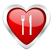 eat valentine icon restaurant sign