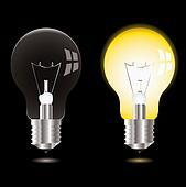 light bulb on off