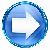 Arrow right icon blue