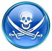 Pirate icon blue