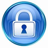 Lock icon blue