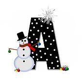 Alphabet Frosty A
