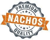 nachos vintage orange seal isolated on white