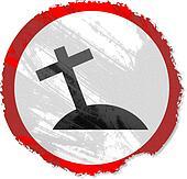 grunge cross sign
