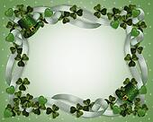 St Pattys Day Border hats shamrocks